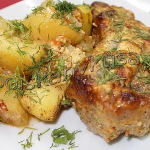 Свиные ребрышки с картошкой