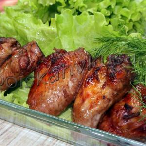 Пикантные куриные крылышки с острым перцем и имбирём