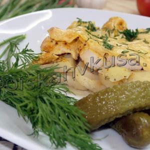 Куриное филе с картофелем в духовке