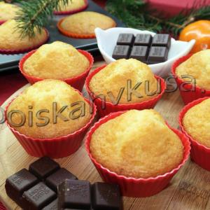 Кексы с малиной и шоколадом