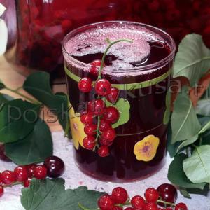 омпот из вишни и красной смородины на зиму
