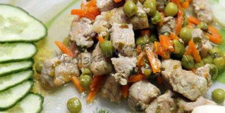 Рагу свиное с овощами