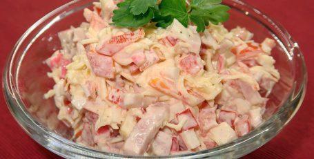 Вкуснейший крабовый салат Твист