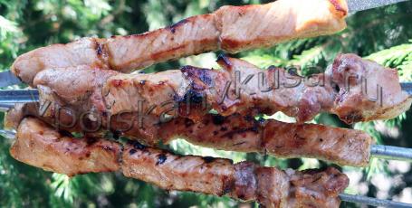Шашлык из свинины в медово-пивном маринаде