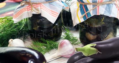 Баклажаны жареные с чесноком и зеленью на зиму