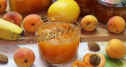 Абрикосовое варенье с бананами и лимоном