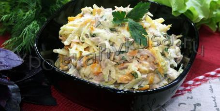 Салат из зелёной редьки с говядиной