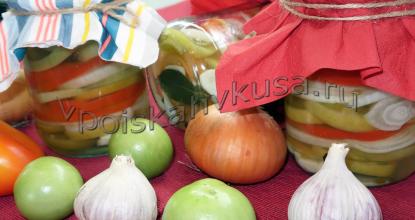 Вкусный салат из зеленых помидор на зиму