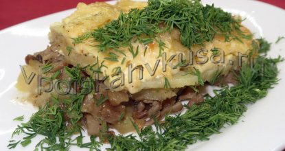 Запечённый картофель под сырной корочкой