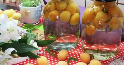 Абрикосовый компот с мятой на зиму