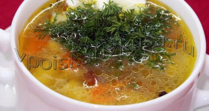 Грибной суп Карпаты