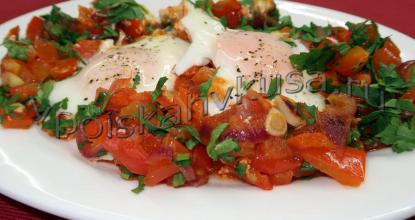 Яичница Шакшука— еврейская яичница с помидорами