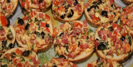 Бутерброды горячие по-итальянски