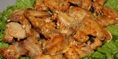 Крылышки куриные в майонезе с аджикой