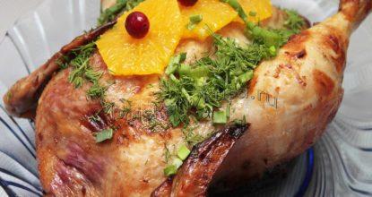 Курица с клюквой и апельсином