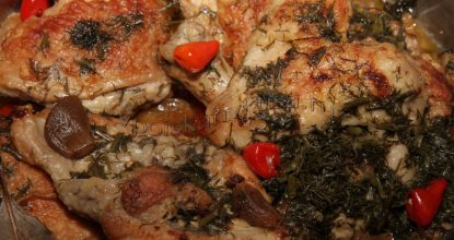 Курица с чесноком по-французски